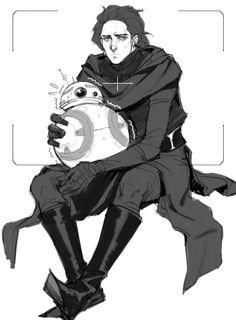 Star Wars, Kylo Ren, BB8
