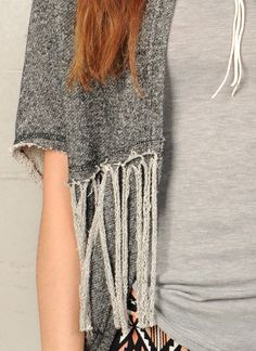 French Terry Poncho