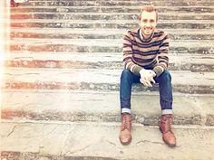 October 24, 2011. Florence, Italy.  Sweater: H - $20Shirt: Club Monaco (from Buffalo Exchange) - $19Jeans: Doctrine Denim - c/o Doctrine Denim  Boots: Topman - $100