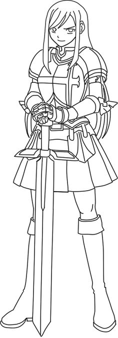 You can color if you want but please give me credit c hiro mashima fairy tail erza scarlet