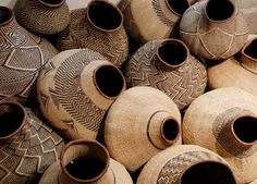 A Bohemian Life - afrikani: BaTonga Nongo (pot) baskets, Zimbabwe. African Design, African Art, African Style, African Beauty, African Fashion, Basket Weaving, Hand Weaving, Woven Baskets, Deco Nature