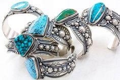 Turquoise & silver bracelettes