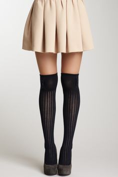 Buttoned Ribbed Knit Over-the-Knee My legs are not thin enough for these but I adore over the knee socks anyway