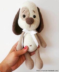 Вязаная собачка амигуруми. Описание вязания (6) (455x558, 103Kb)