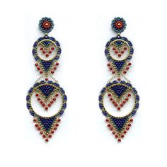 beads jewelry making Beaded Earrings Patterns, Seed Bead Earrings, Diy Earrings, Beaded Bracelets, Hoop Earrings, Bracelet Crafts, Charm Bracelets, Beading Patterns, Seed Beads
