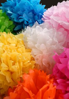 paper flowers for classroom - cute!