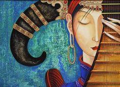 ZAYA - Zayasaikhan Sambuu, Mongolian painter | Melody, oil on canvas, 2010