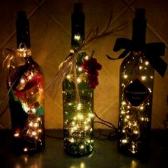 Cute light filled bottles