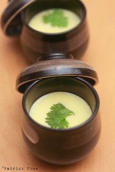 Silky chawanmushi ( Japanese steamed egg custard ).  Serve minis as amuse bouche