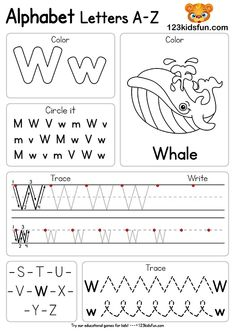 Free Alphabet Practice A-Z Letter Preschool Printable Worksheets to Learn Kids Alphabet Writing Worksheets, Printable Preschool Worksheets, Preschool Writing, Kindergarten Learning, Preschool Letters, Alphabet Worksheets, Free Alphabet Printables, Kids Alphabet, Alphabet Games