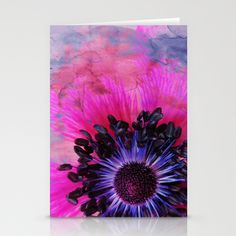 Flower #1 by Psychae Stationery cards available on  http://society6.com/psychae