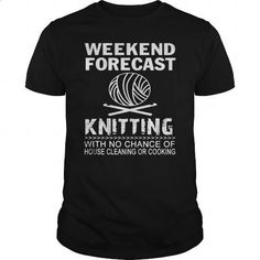 WEEKEND FORECAST KNITTING T SHIRTS - #zip up hoodies #hooded sweatshirt dress. I WANT THIS => https://www.sunfrog.com/Hobby/T-shirt-quilt--Knitting-Crochet-139364949-Black-Guys.html?60505