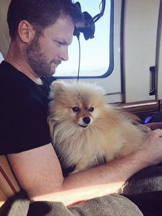 Dale Jr. with Junebug, his dog.