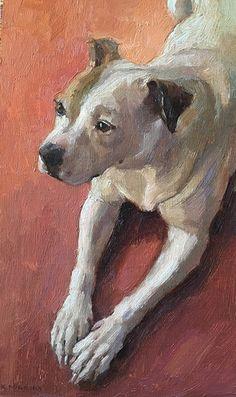 Kona Bean by Katya Minkina, Oil, 10 x 6 Paintings I Love, Animal Paintings, Watercolor Animals, Dog Portraits, Dog Photos, Beautiful Dogs, Dog Art, Animals And Pets, Artwork