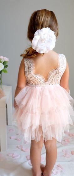 flower girl dress, short flower girl dress, pink flower girl dres, princess flower girl dress