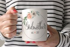 """Shop Ollie + Hank for your godmother's favorite new mug! A unique proposal idea to ask """"Will you be my Godmother?"""""""