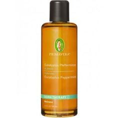 Aroma Sauna Eukalyptus Pfefferminze* bio von Primavera Minzig-frisches Dufterlebnis in Verbindung mit der wohltuenden Sauna. Der Saunaaufguss Eukalyptus & Pfefferminze hilft die Atmung zu vertiefen und vermittelt Selbstvertrauen und Zuversicht. Es wirkt stimulierend, reinigend und erfrischend auf Körper, Geist und Seele.