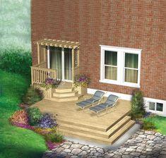 Raised Patio Cinder Blocks pergola patio with fire pit. Backyard Retreat, Backyard Pergola, Patio Roof, Backyard Landscaping, Landscaping Ideas, Patio Edging, Patio Diy, Gravel Patio, Pea Gravel