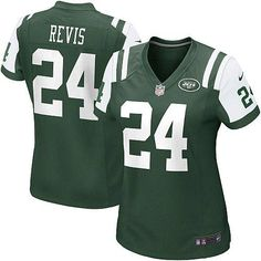 Women's Nike NFL New York Jets #24 Darrelle Revis Game Team Color Green Jersey $69.99