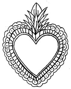 Mexican Embroidery, Beaded Embroidery, Embroidery Patterns, Traditional Tattoo Old School, Aluminum Can Crafts, Chic Tattoo, Flat Drawings, Heart Template, Tin Art