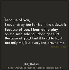 Kelly clarkson angel lyrics