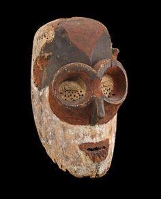 A Fang or Mitsogho mask, Gabon