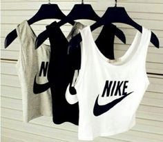 tank top nike sportswear crop tops white black crop top grey