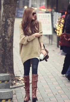 Women Long Sleeve Oversized Batwing Knit Sweater Loose Jumper Pullover Tops  New  a18ed3d20