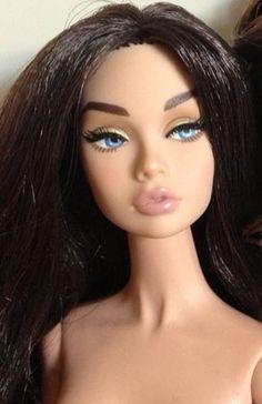 Megan Fox Repaint of the 'Bergdorf Goodman' Poppy Parker Fashion Doll.