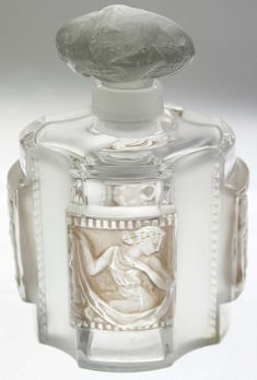 "♔ Bottles & Boxes ♔ perfume, pill, snuff, cigarette cases & decorative containers - Rene Lalique Perfume Bottle ""Helene"""