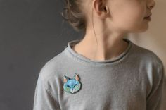 embroidered cat brooch graphic cat pins colorful animal by EnAvril