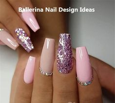 Ballerina Nail Art Tips Transparent/Natural False Coffin Nails Art Tips Flat Shape Full Cover Manicure Fake Nail Tips Ballerina Nail Art Tips Transparent/Natural False Coffin Nails Art Tips Flat Shape Full Cover Manicure Fake Nail Tips - Домашний маникюр Cute Acrylic Nails, Acrylic Nail Designs, Nail Art Designs, Nails Design, Pink Nails, Glitter Nails, My Nails, Glitter Art, Pink Glitter