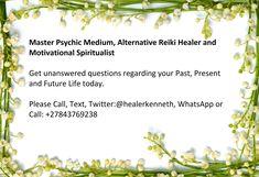 Spiritual Light and Angels Blessing, Call Healer / WhatsApp Celebrity Psychic, Medium Readings, Aura Reading, Reiki Healer, Lost Love Spells, Online Psychic, Love Spell Caster, Psychic Mediums, The Power Of Love