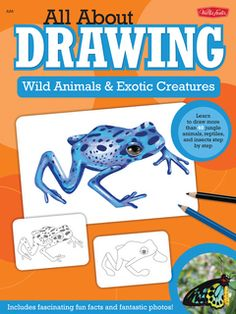 Buy Wild Animals & Exotic Creatures (All About Drawing) by Walter Foster at Mighty Ape NZ. All About Drawing Wild Animals & Exotic Creatures educates and engages children as they learn to draw a toucan, a bearded dragon, a jaguar, and many m. Jungle Animals, Baby Animals, Wild Animals, Funny Animals, Cute Animals, Draw Animals, Amazing Animals, Animals Beautiful, Reptiles