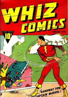 Once the subject of a lawsuit over similarities to Superman, Captain Marvel first appeared in Whiz Comics and eventually became Shazam! Now a Shazam! What has this done for comic book prices? Valuable Comic Books, Rare Comic Books, Vintage Comic Books, Vintage Comics, Comic Book Covers, Comic Books Art, Vintage Art, Captain Marvel Shazam, Original Captain Marvel