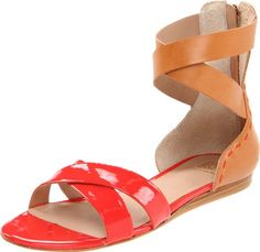 2a249680c55fa Pour La Victoire Womens Fabia Sandal Coral RedSaddle Brown 10 M US     Remarkable product available now.