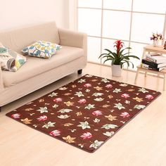 Coral Fleece Luxury Rugs And Carpets For Home Living Room Floor Mat Kitchen Bedroom 10 Sizes