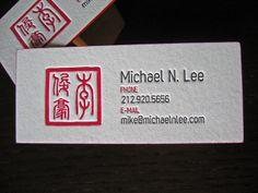 Michael Lee Letterpress Card by dolcepress, via Flickr