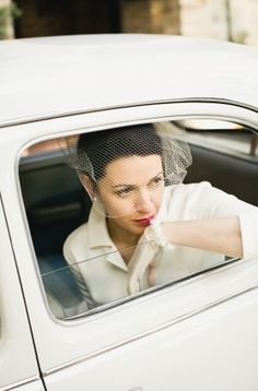 Classic Wedding Photography - Looking out of car window!