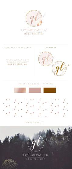 Logotipo desenvolvido para Gyovanna Luz Moda Feminina Logo Branding, Branding Design, Logo Design, Graphic Design, Logo Boutique, Logo Minimalista, App Logo, Brand Board, Apps