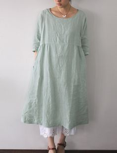 I have a dress like this- Privatsachen, I think. Could use as a pattern- may e make it slightly less full. And one without sleeves as well? Wear over capri's or leggings- fitted ones.