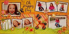 Oh Happy Day... scrapbook layout #Scrapbook #Layout #Scrapbooking  #Page #Scrap