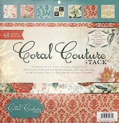 """Die Cuts With A View - Coral Couture Collection - 12""""x12"""" Paper Stack ,$19.99"""