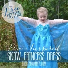 Free Pattern and Tutorial for a Frozen Inspired Elsa Dress Costume   The DIY Mommy