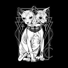 Shop graphic tees, artwork, iphone cases, and more designed by the worldwide Threadless community. Cat Drawing, Drawing People, Bastet Goddess, Arte Punk, Creepy Cat, Satanic Art, Arte Obscura, Witch Cat, Occult Art