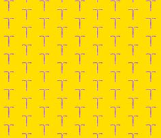 IUDs for Everybody! (sunshine) fabric by dscougar on Spoonflower - custom fabric