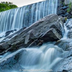 These slippery waterfall slopes are not suitable for old folks... - Stroudwater Falls Photography