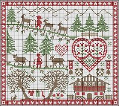 She has so many really great FREE counted cross stitch patterns.: