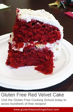 Gluten Free Red Velvet Cake - Don't miss the good things in life with this recipe. Red velvet cake is a truly elegant sibling of the common yellow cake and should not be missed. This is an excellent recipe for birthdays.