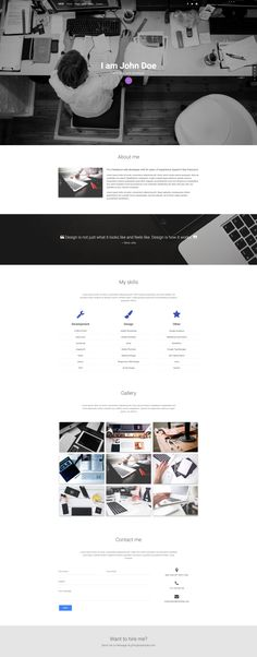Web Developer Portfolio template created with Material Design for Bootstrap Web Developer Portfolio Website, Portfolio Website Design, Portfolio Web Design, Website Design Company, Web Design Tips, Portfolio Ideas, Material Design Website, Cv Design, Graphic Design
